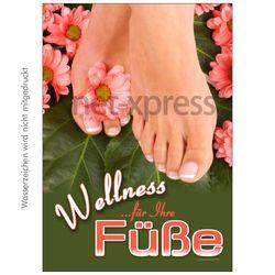 Plakat Wellness für Ihre Füße