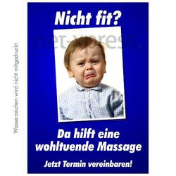Lustiges Massage-Werbeposter