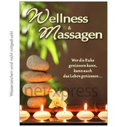 Plakat Wellness-Masssagen