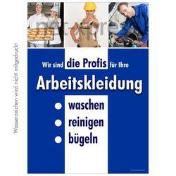 Plakat Reinigung von Arbeitskleidung