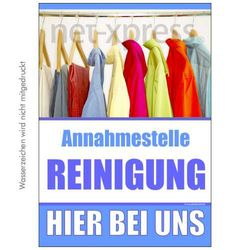 Poster Annahmestelle Reinigung
