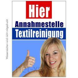 Textilpflege-Poster