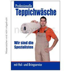 Plakat Teppichwäsche