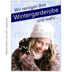 Plakat Reinigung  Wintergarderobe
