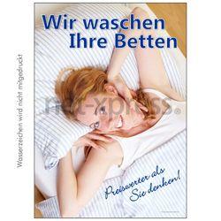Plakat Bettenwäsche