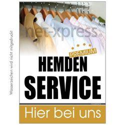 Plakat für Reklame Hemdenservice