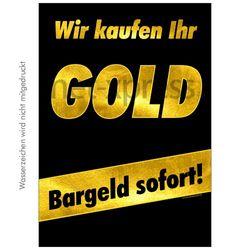 Plakat Wir kaufen Ihr Gold