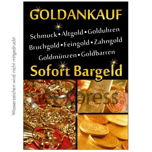 Plakat Goldankauf Sofort Bargeld DIN A0 A1 A2 A3