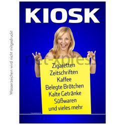 Poster mit Kiosk-Werbung