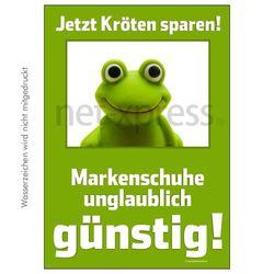 Plakat Markenschuhe günstig