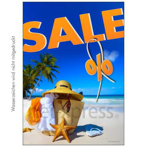 Plakat Sommer-Sale DIN A0 A1 A2 A3