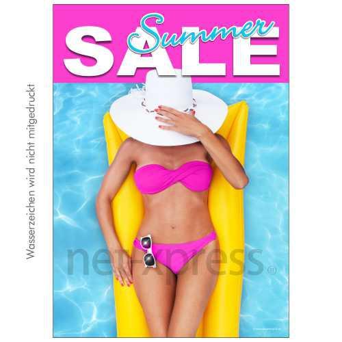 Poster für den Sommer-Sale-Verkauf DIN A0 A1 A2 A3