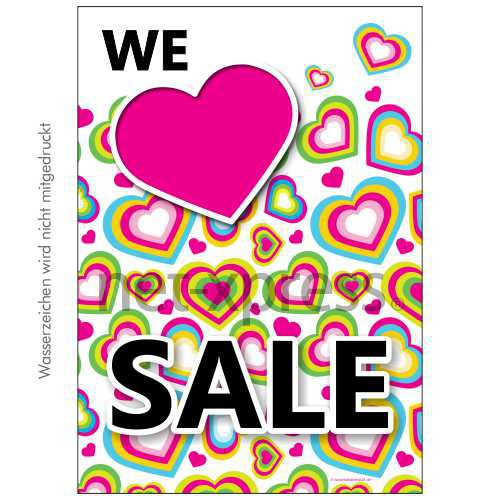 Plakat We love Sale DIN A0 A1 A2 A3