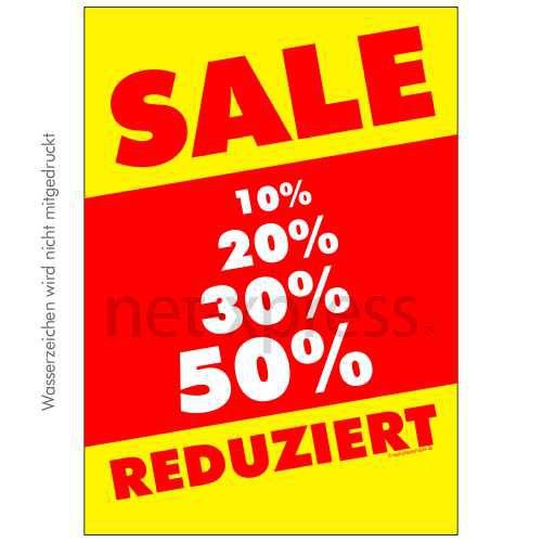 Auffälliges Sale-Plakat DIN A0 A1 A2 A3