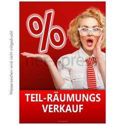 Poster Teilräumungsverkauf
