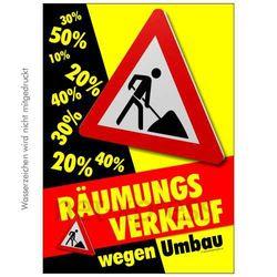 Poster Räumungsverkauf wegen Umbau