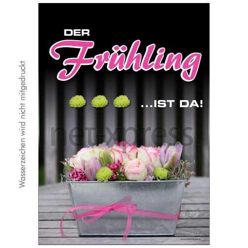 Plakat der Frühling ist da DIN A0 A1 A2 A3