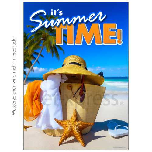 Plakat It´s Summertime DIN A0 A1 A2 A3