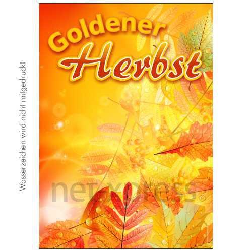 Poster Goldener Herbst DIN A0 A1 A2 A3