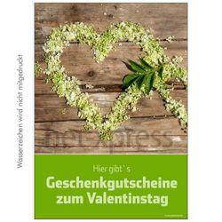 Valentinstags-Plakat Geschenkgutscheine