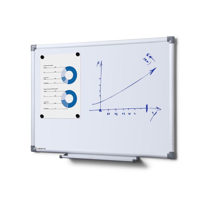 Whiteboard SCRITTO Profi 600 x 450 mm (Speziallackierung weiß, magnetisch)