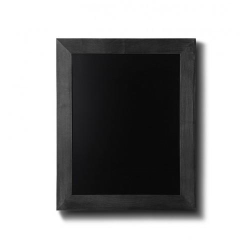 Kreidetafel Holz Flacher Rahmen Schwarz 30x40