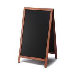 Kundenstopper Holz Premium, teak, 68x120