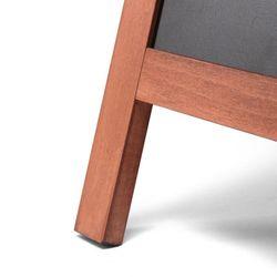 Kundenstopper Holz Premium, teak, 68x120 – Bild 3
