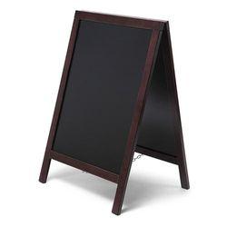 Kundenstopper Holz Basic, dunkelbraun, 55x85