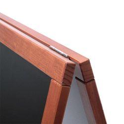 Kundenstopper Holz Basic, hellbraun / teak, 55x85 – Bild 2