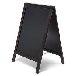 Kundenstopper Holz Basic, schwarz, 55x85