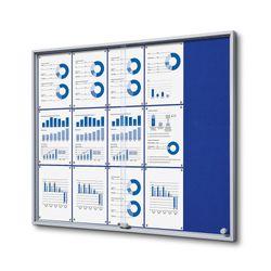 Schaukasten SL-Line 15 x DIN A4, ESG, Filz-Rückwand blau