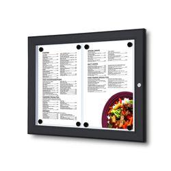Schaukasten Z-Line 2 x DIN A4 für Speisekarten, schwarz