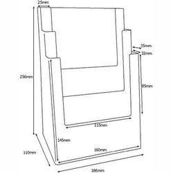 Prospektständer DIN A5 dreistufig MB3C160 – Bild 3