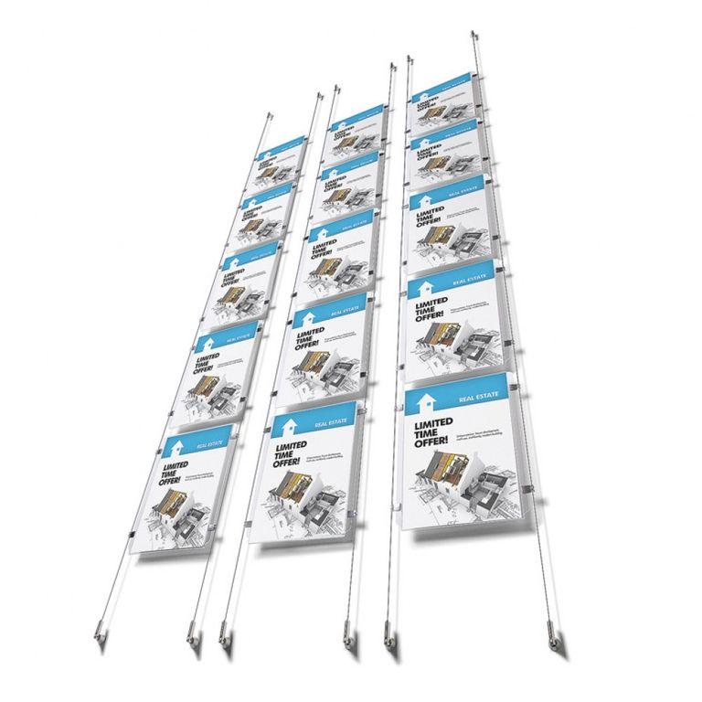 Drahtseil-Spannsystem APPENDO 5 x DIN A4