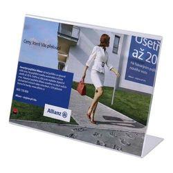 Werbeaufsteller L-Ständer Acryl DIN A6 (Querformat)