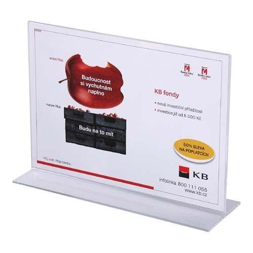 Werbeaufsteller T-Ständer Acryl DIN A5 (Querformat)