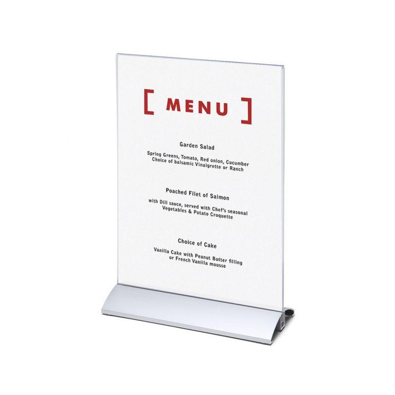 Tischaufsteller / Menükartenhalter Alu DIN A4 (Hochformat)