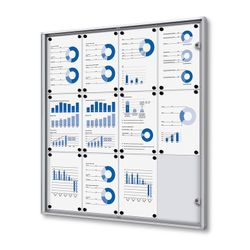 Schaukasten XS-Line 12 x DIN A4 Metallrückwand – Bild 1