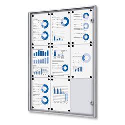 Schaukasten XS-Line 9 x DIN A4 Metallrückwand – Bild 1
