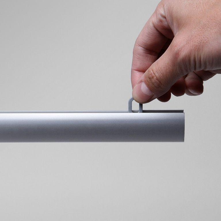 Schutzwand hängend Alu 85x60cm transparent - Bild 4 (vergrößert)