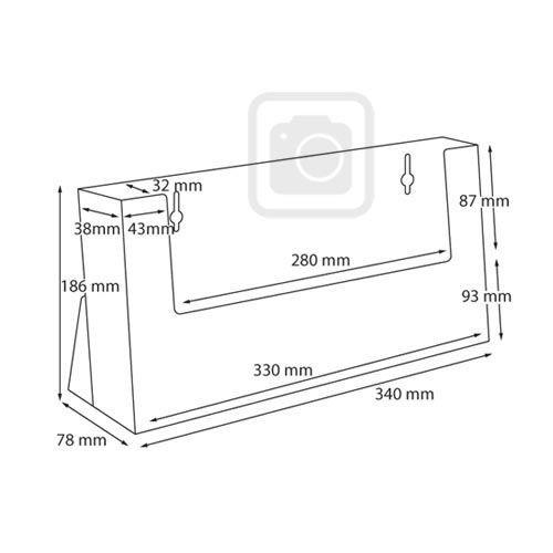 Standprospekthalter DIN A4 einstufig quer C330 (24) - Bild 3 (vergrößert)