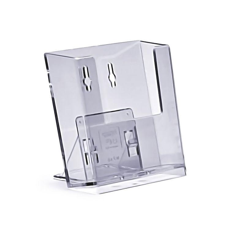 Stand-/ Wandprospekthalter DIN A6 einstufig WPA6 (80)