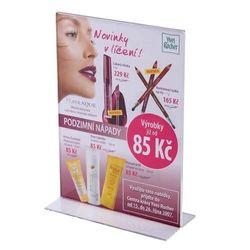 Werbeaufsteller T-Ständer Acryl DIN A7 (Hochformat)