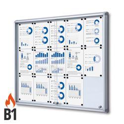 Schaukasten SL-Line 15 x DIN A4, B1 Norm, ESG, Sicherheitsecken – Bild 1
