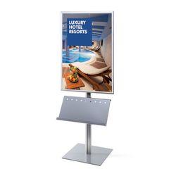 Plakatständer InfoPole 70x100 G25 + Ablage einseitig
