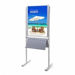 Plakatständer Infoboard 70x100 mit Prospektablage beidseitig