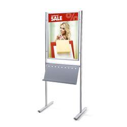 Plakatständer Infoboard DIN A1 mit Prospektablage einseitig
