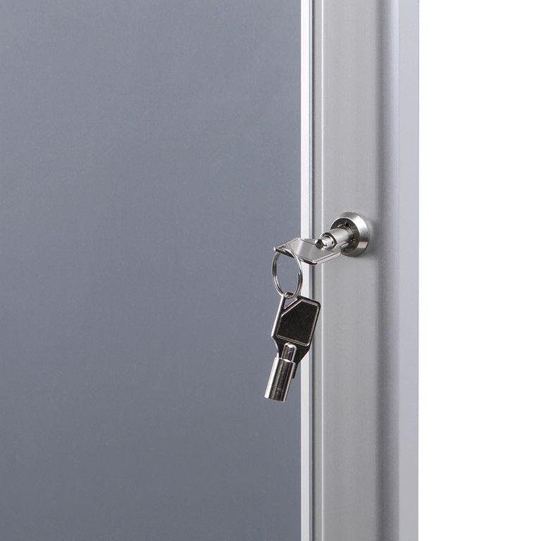 abschließbarer Schaukasten / Plakatrahmen P-Line DIN A0 | net-xpress.de