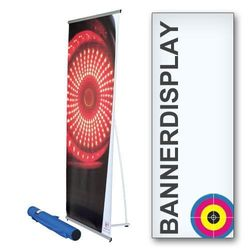 Bannerdisplay 80x200cm einseitig inkl. Digitaldruck